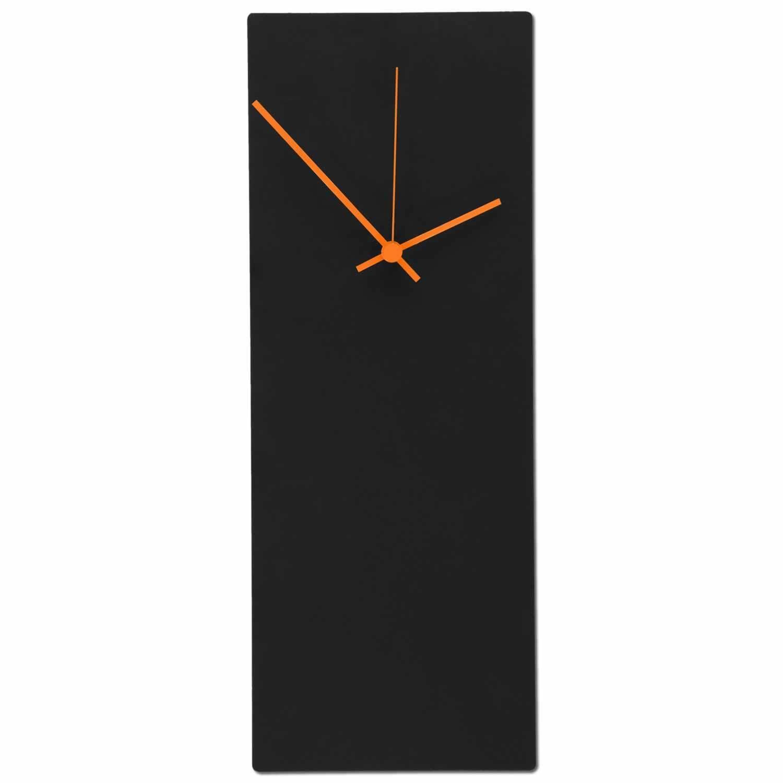 Large Midcentury Modern Wall Clock Minimalist Black Metal Contemporary Art Decor
