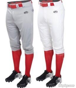 Rawlings-Launch-Adult-Knicker-Baseball-Pants-White-or-Grey-S-2X