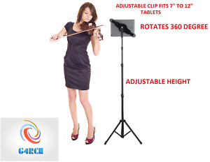 Music-Stand-Mount-with-Adjustable-Holder-For-Apple-iPad-Air-Mini-Samsung-Galaxy
