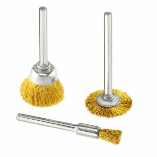 45pcs Brass Wire Wheel Polishing Mix Brush Set for Dremel Rotary Tool