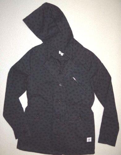 de abotonada capucha algodón Vans Tadao Nueva informal Mujer coser pequeño chaqueta con xfXtw0qY