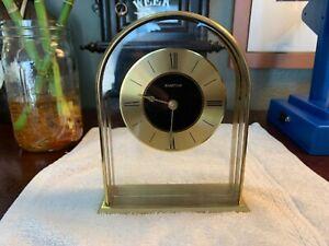 Vintage-Hampton-Mantle-Table-Clock-Made-in-West-Germany-Mattel-Quartz-Time