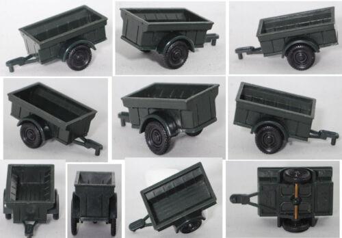 Siku plástico v93 1//4-to jeep-remolque