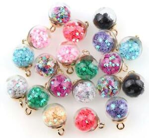 25PCs-Colorful-Transparent-Glass-Ball-Star-Charms-FOR-hair-Jewelry-Earring-Charm