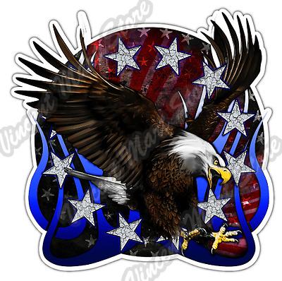 Bald Eagle Vinyl Decal Sticker Bumper Window Wall America USA Patriot Pride