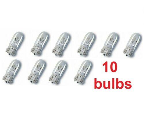 10 x LLB501 W2.1 x 9.5d 12v 5W CAPLESS BULBS PANEL//SIDELIGHT BULBS