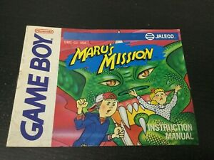 Maru-039-s-Mission-Game-Boy-Nintendo-Instruction-Manual-Only