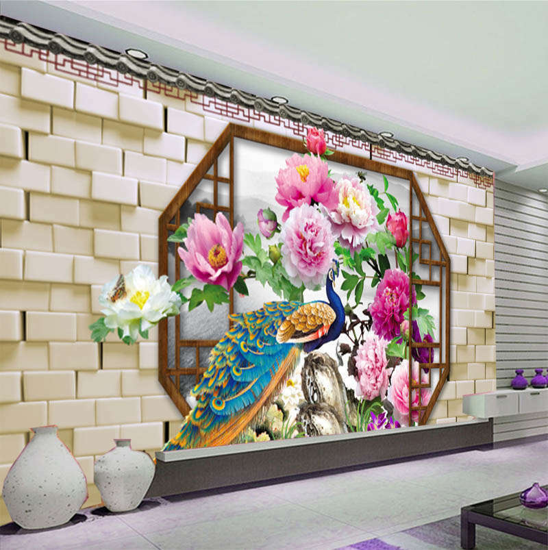 Peaceful Novel Peony 3D Full Wall Mural Photo Wallpaper Printing Home Kids Decor