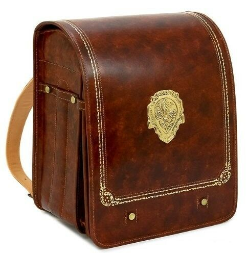 Randoseru Brown Soft leather Made in Italy handmade A4 available schoolbag F/S16
