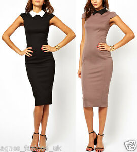 Womens Elegant Vintage Office Wear To Work Party Bodycon Pencil ... 5980b8d7be6e