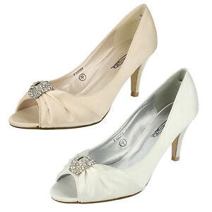 Mujer Spot On Zapatos De Salón Estilo - f10059