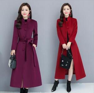 Cappotto lana Slim Giacca Outwear misto donna lunga Fit da con invernale in Coprispalle Ygq8U8