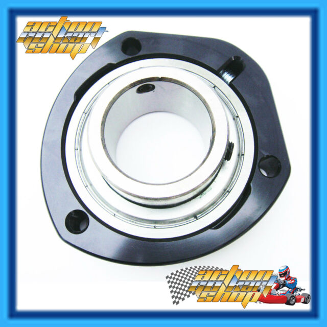 GO KART 40MM AXLE BEARING & CARRIER BLACK BILLET MACHINED RACE QUALITY FREE DEL.