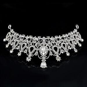 Crystal-Bridal-Wedding-Rhinestone-Hair-Headband-Crown-Comb-Tiara-Prom-Pageant