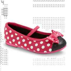 Disney-Minnie-Mouse-Toddler-Girl-039-s-Ballet-Flats