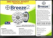 Bayer Breeze Glucose Test Strips, 5 Discs (50 Test Strips) NEW 03/2017+ BREEZE 2