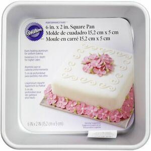 Wilton-Performance-Aluminum-Square-Cake-and-Brownie-Pan-6-034-x6-034-x2-034-Deep