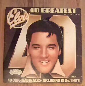 Elvis-Presley-40-Greatest-Hits-2-Vinyl-LP-Comp-Gate-1975-Arcade-ADEP-12