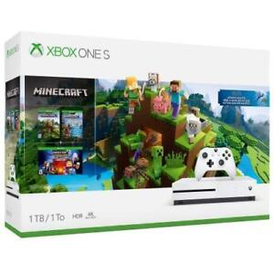 Details about Xbox One S 1tb Console - Minecraft Complete Adventure Bundle  NEW
