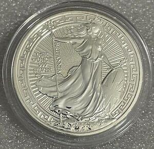 2018 1 oz .999 Silver Britannia Coin - Oriental Border -  In Guardhouse Capsule