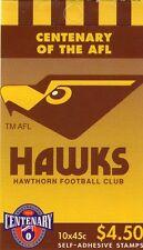 1996 AUSTRALIAN STAMP BOOKLET AFL CENTENARY HAWTHORN 10 x 45c STAMPS MUH