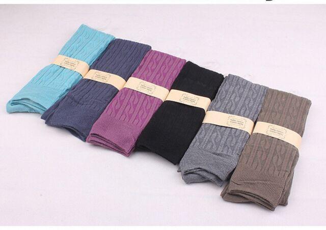 1Pair Women Girls Winter Warm Thigh High Over Knees Stockings Long Tights Socks