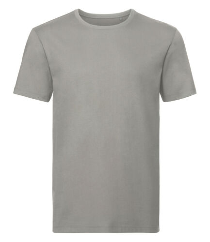 Russell Pure Organic Cotton Shaped Fit Crew Neck Plain Tee T-Shirt XS-3XL