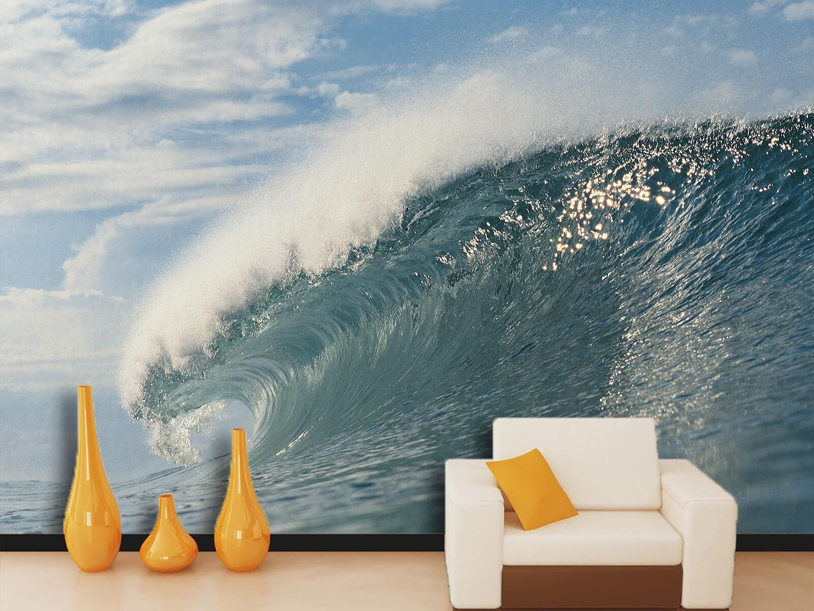 3D Vague Enorme 611 Photo Papier Peint en Autocollant Murale Plafond Chambre Art