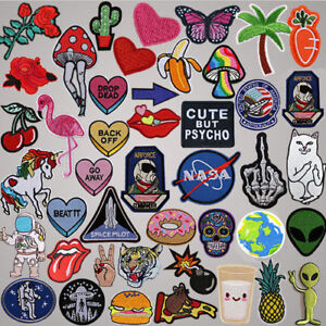 DIY-Badge-Patch-Embroidered-Sew-Iron-On-Patches-Badge-Bag-Fabric-Applique-Craft