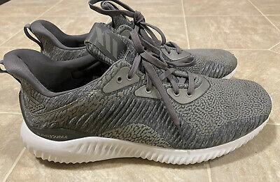 Adidas Alphabounce AMS Mens Running Shoes Size 10 Heather Gray