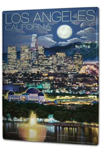 Blechschild XXL Stadt  Los Angeles USA