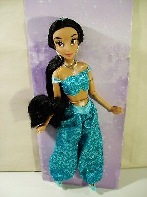 "Nwob Disney Store Classic Princess Jasmine 12"" Doll Aladdin Poseable New Other Brand & Character Dolls"