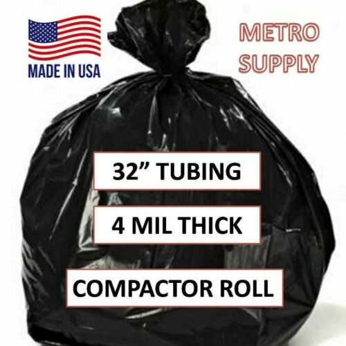 """Details about  /32"""" Tubing 4 mil bag Extra Large GarbageHeavy Duty For Trash Compactor"""