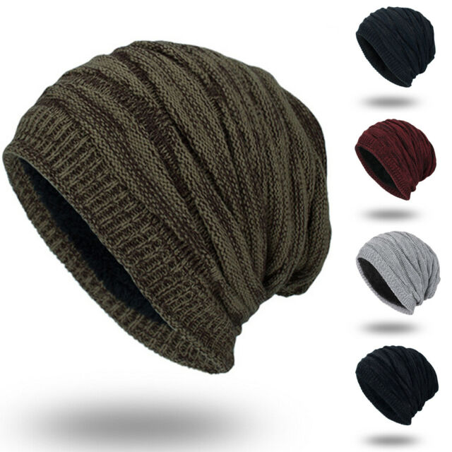 9393db22d Men's Womens Knit Baggy Beanie Oversize Winter Warm Hat Ski Slouchy Thick  Cap US