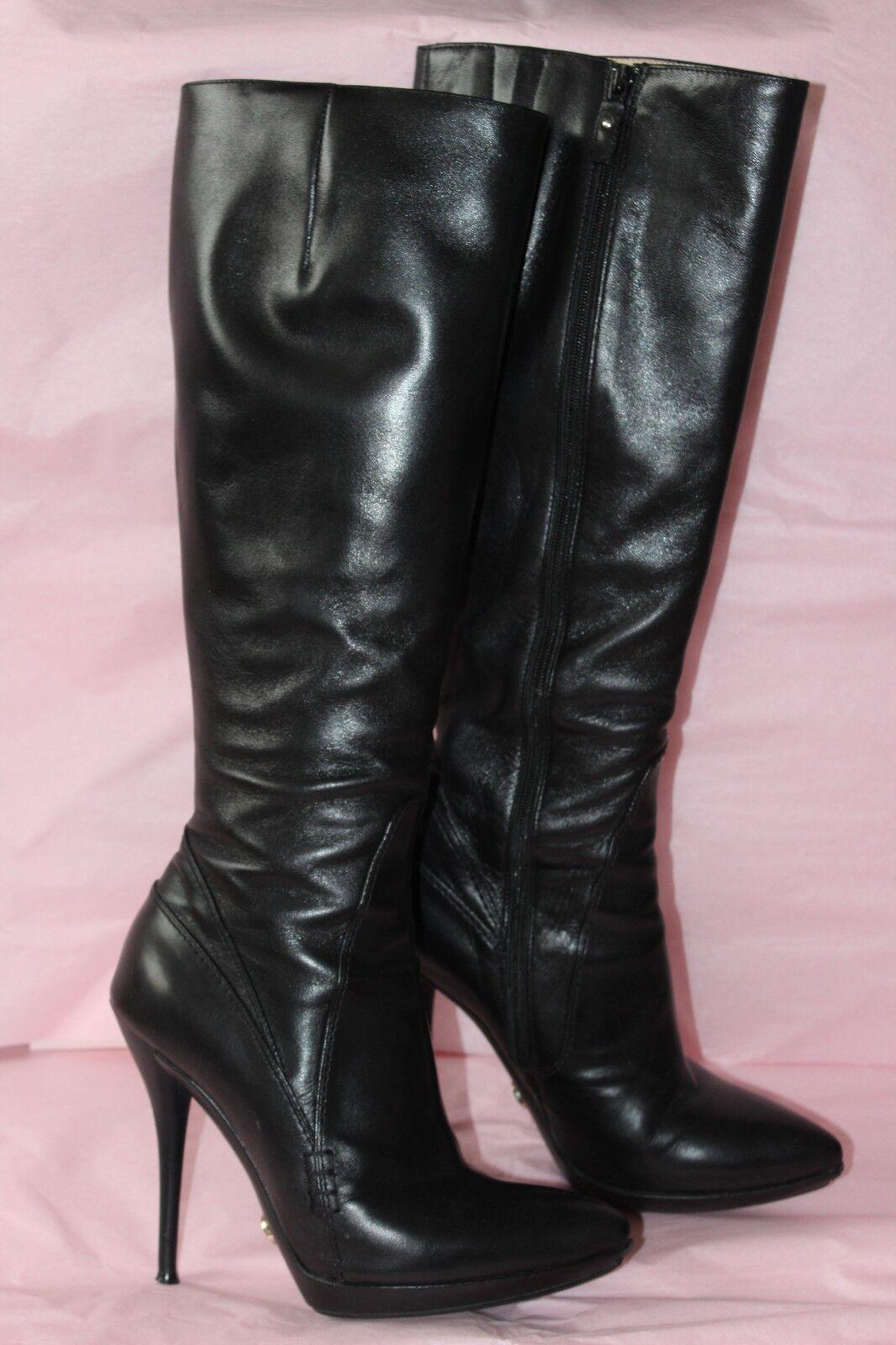 ENZO logana Marca Suave Cuero Negro botas botas botas Talla 37  barato en alta calidad