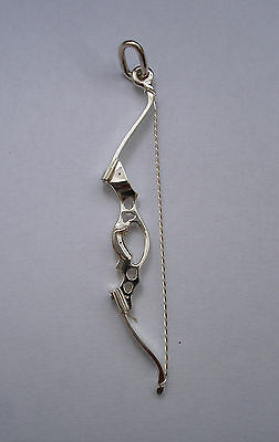 Fita Olympic Bow Archery Necklace Charm handmade Siver 925