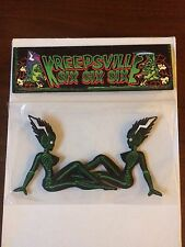 RARE Kreepsville 666 Frankenstein skeleton mudflap girl patches psychobilly goth