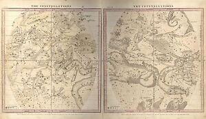 MAP-SPACE-ASTRONOMY-BURRITT-1856-WINTER-CONSTELLATION-REPRO-POSTER-PRINT-PAM1210