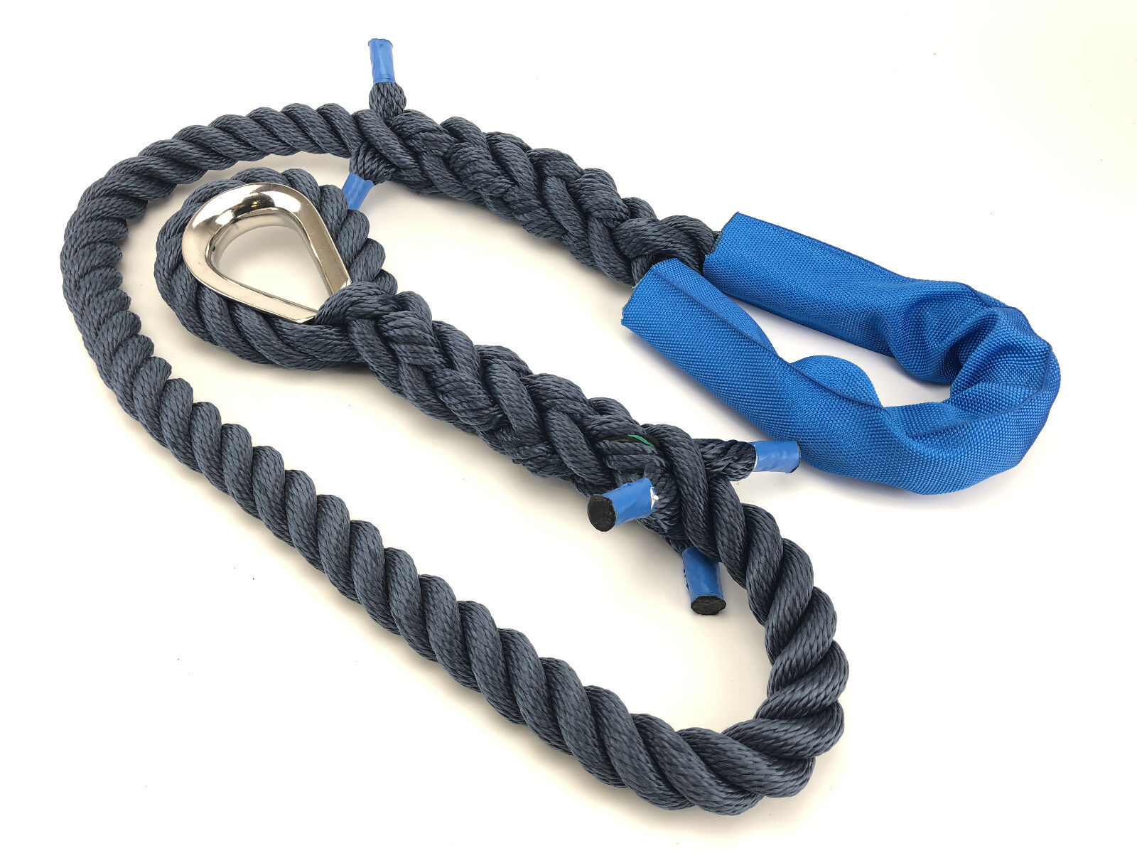 16mm Navy bluee 3 Strand Floating Softline Mooring Rope Strop   Warp x 6 Metres