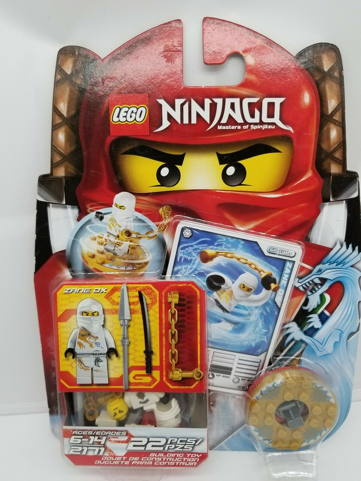 1x Lego Ninjago Spinner Red Pearl Gold Element Ice with Sliding Stone Set 2171
