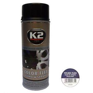 K2 Color Flex 400ml Felgenfolie Flüssiggummi schwarz matt 29 /ltr