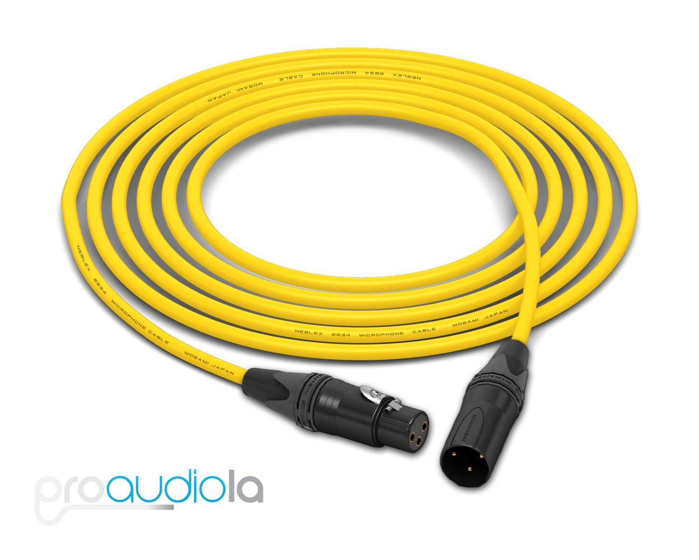 Mogami Quad 2534 Câble Neutrik Doré Xlr-F XLR-M Gelb 18.3m 18.3m 18.3m