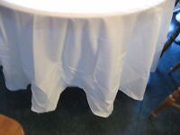 Table Cloth 90 Inch Round Ivory Hard To Find Ivory Make An Offer. .