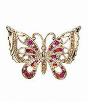Dillard´s Boxed Collection Pink & Goldtone Butterfly Brooche