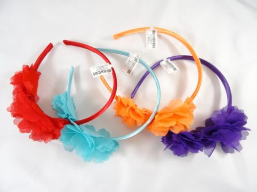Colorful New 4 Piece Flower Rhinestone Headband Lot  $32 Tags #H9001