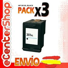 3 Cartuchos Tinta Negra / Negro HP 301XL Reman HP Deskjet 1055