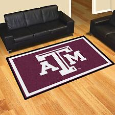 texas au0026m aggies 5u0027 x 8u0027 decorative ultra plush carpet area rug