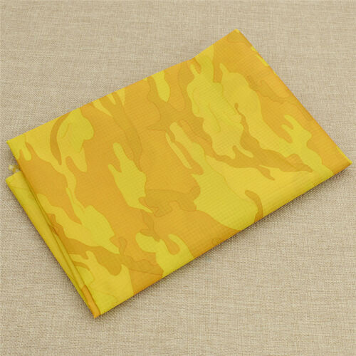 Camouflage Pattern Fabric Waterproof PU Fabric for Clothing Bags Craft Material
