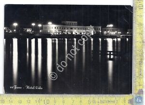 Cartolina-Postcard-Fano-Hotel-Lido-By-night-1952