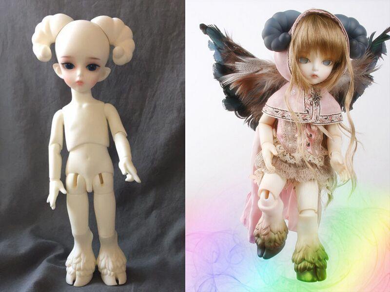 In Stock 1 6 Bjd Doll  - Taurus Free Facial Makeup+Free Eyes- beef feet & Wing